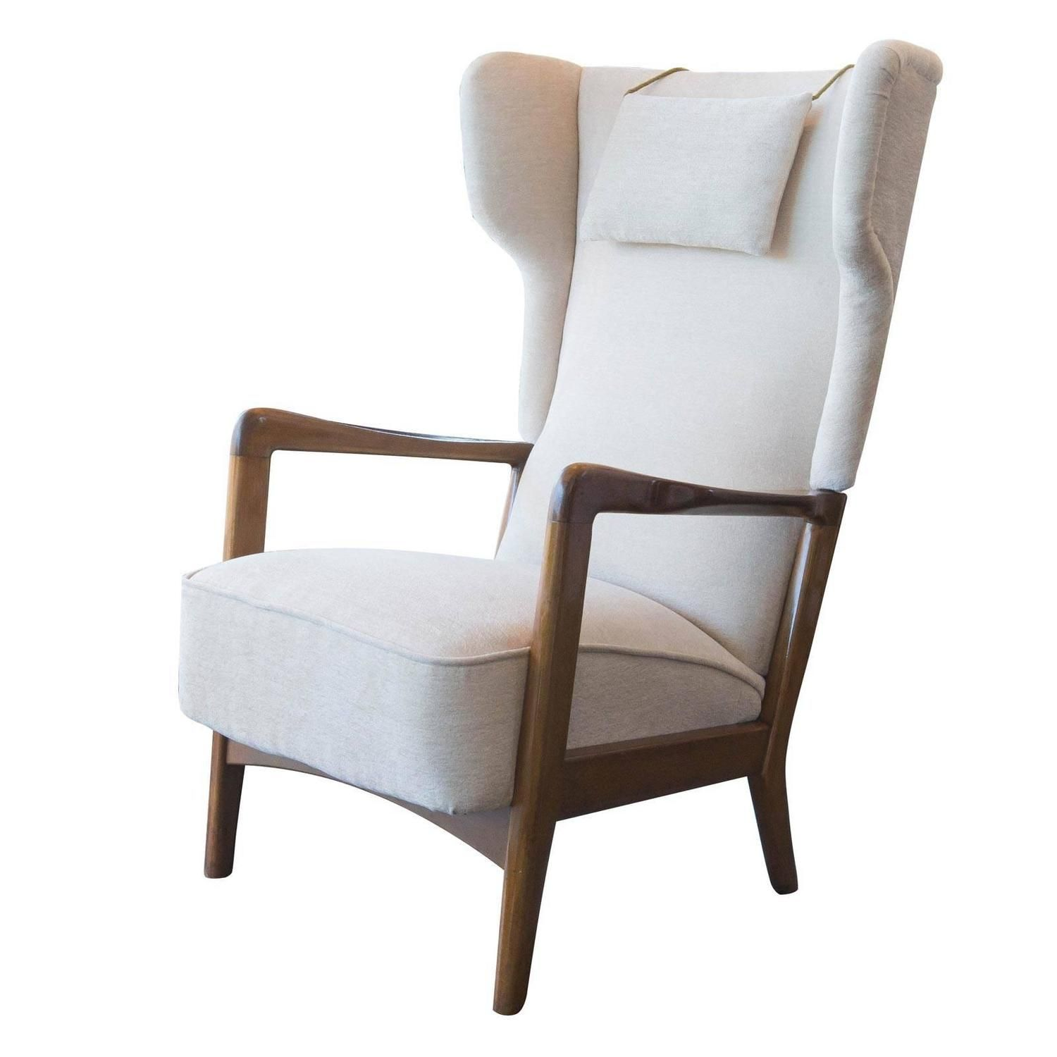 Fritz Hansen Midcentury High-Back Lounge Chair | From a unique collection of antique and modern armchairs at https://www.1stdibs.com/furniture/seating/armchairs/