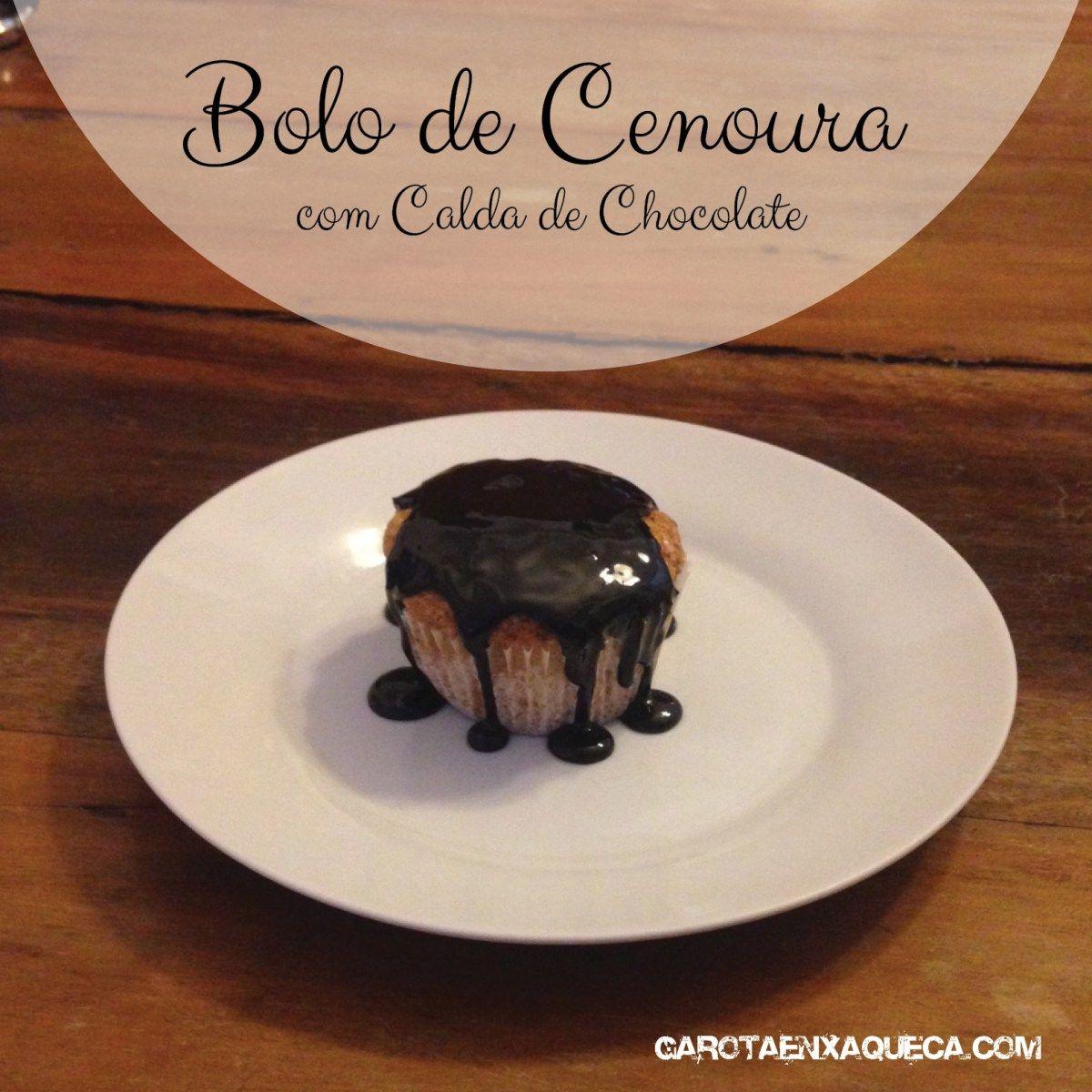 Bolo de Cenoura com Calda de Chocolate - Receita