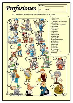 PROFESIONES   SPANISH Learning   Learning spanish, Spanish ...