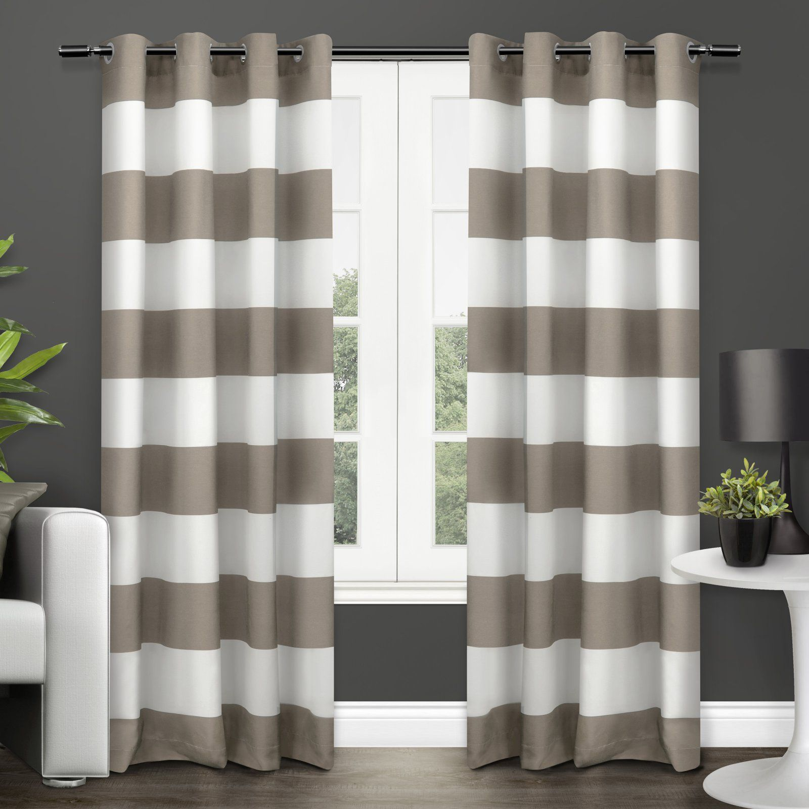 Exclusive Home Surfside Cabana Striped Grommet Curtain