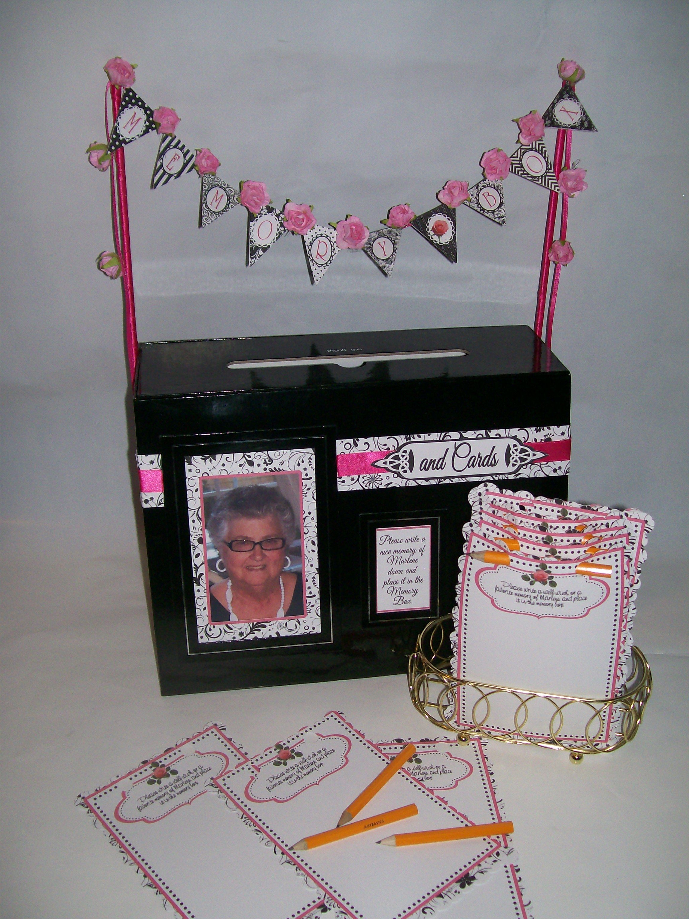 80th Birthday Party cards memory box 80th Birthday Party