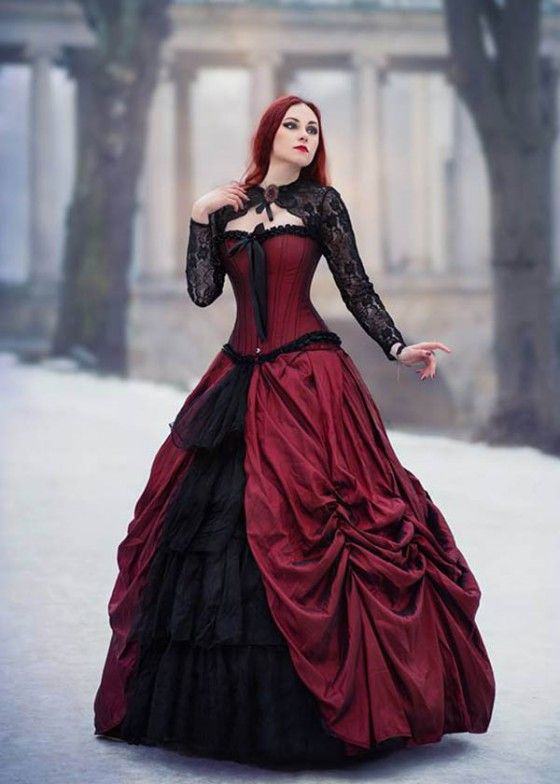 47f9bb0f6c5a Red Black Gothic Long Prom Dress D1008 in 2019 | Doll Face | Gothic ...