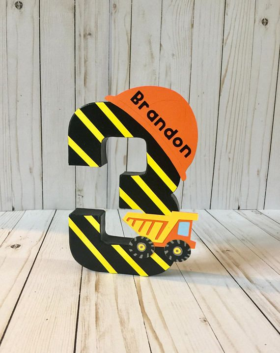 Construction Birthday Party, Dump Truck, Construction Party Theme, Construction Party, construction signs, First birthday decor, Age number #boybirthdayparties