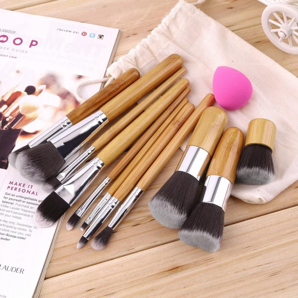 11Pcs Makeup Eyeshadow Foundation Concealer Brushes Sets+