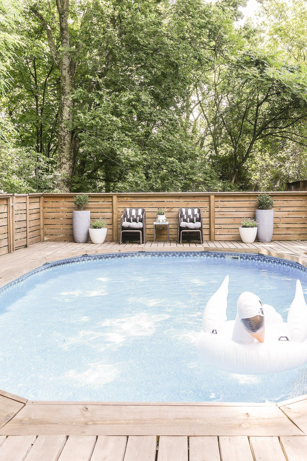 Above Ground Pool Fully Decked Over Www Abovegroundpoolsuperstore Com Au Swimming Pool Decks Backyard Pool Landscaping Above Ground Pool Decks