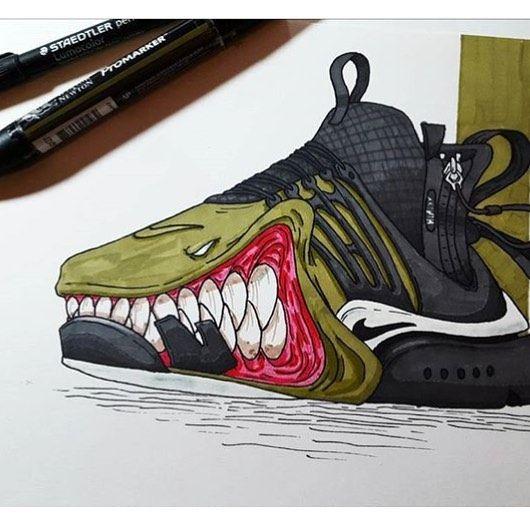 #sneakerart #artist @arts.dreu