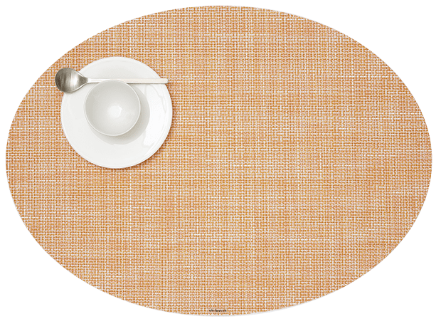 Chilewich Mini Basketweave Oval Placemat Set Of 4 Placemat Sets Placemats Chilewich