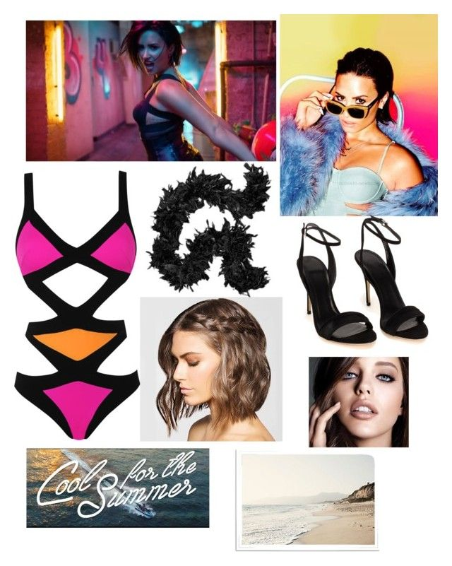 """""""Demi Lovato * Cool For The Summer"""" by hayles-rayne1 ❤ liked on Polyvore featuring Agent Provocateur and Maybelline"""