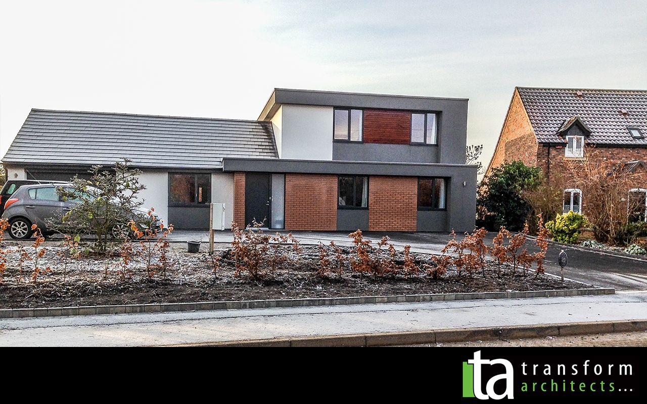 Contemporary bungalow in grey render   Additions   Pinterest ...