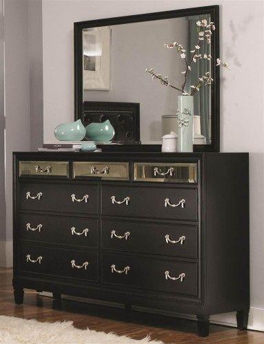 9 Drawer Dresser In Black Coaster Furniture Bedroom Dressers Furniture