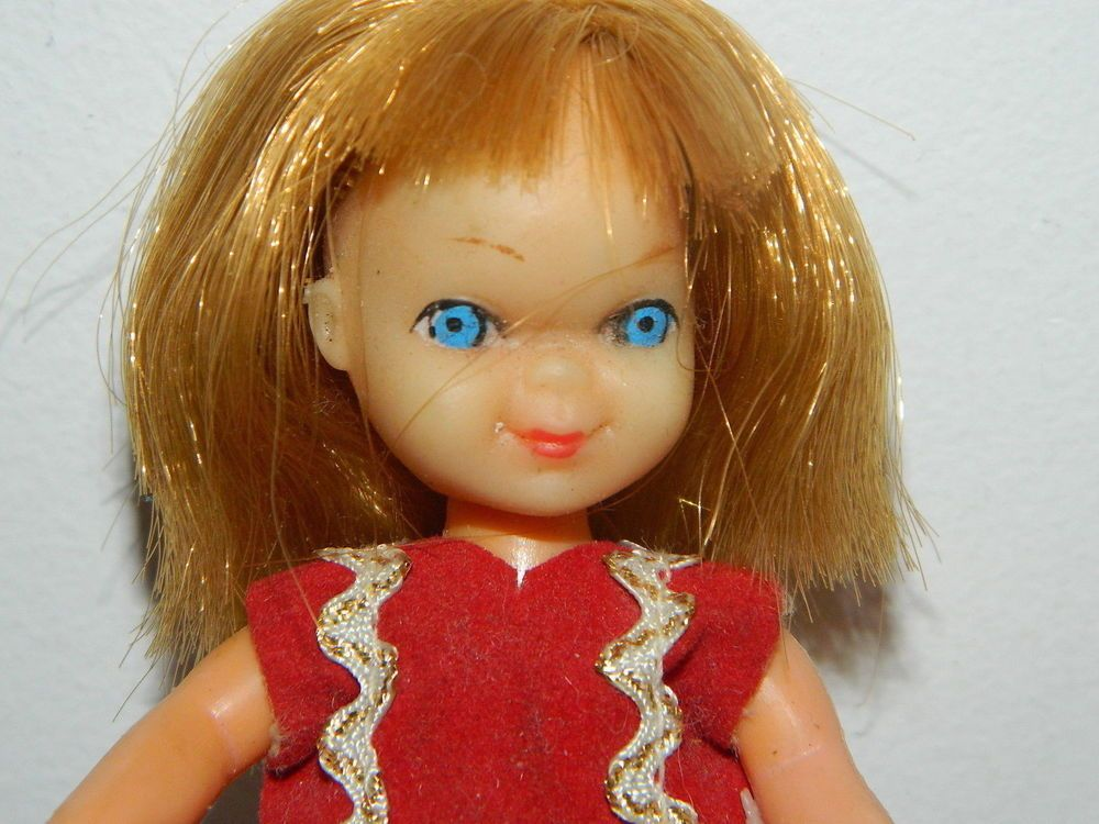 1960s+Barbie+Tutti+Clone+5++Hong+Kong+Vintage+Original+Fashion+Doll