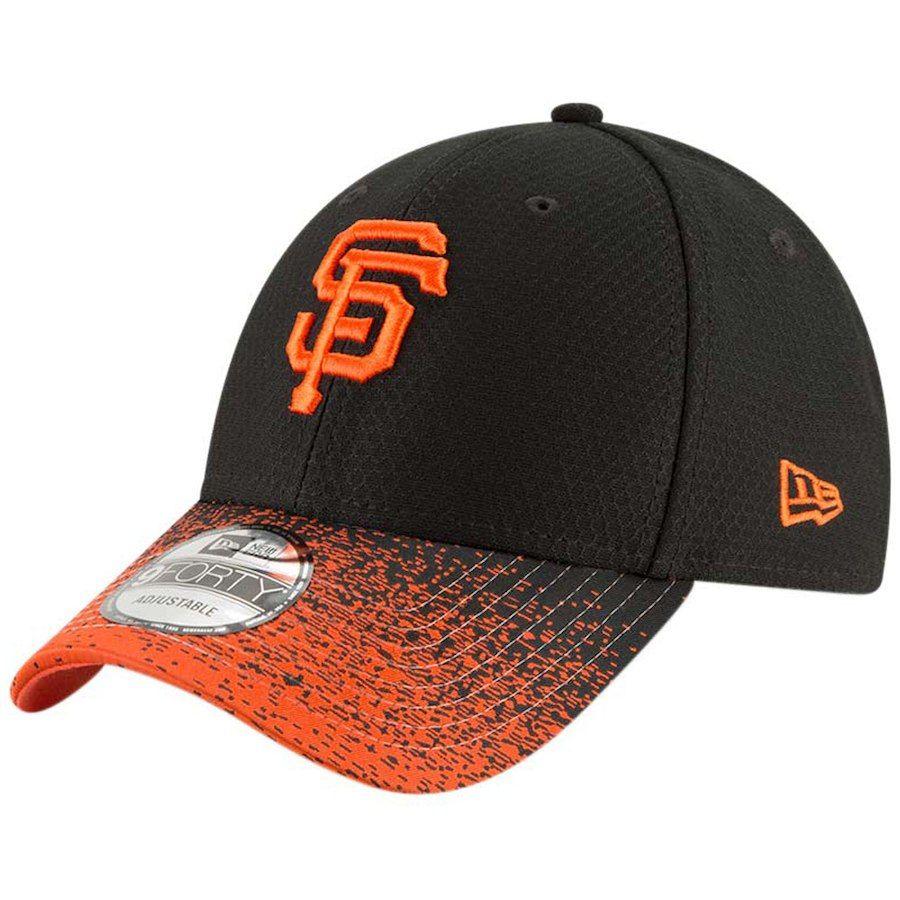 191562efac7 Men s San Francisco Giants New Era Black Visor Blur 9FORTY Adjustable Hat