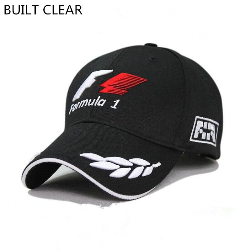 eb620ae656a (BUILT CLEAR) 2017 New Black Snapback F1 Racing Team Embroidered Hat F1  Wheat Cards