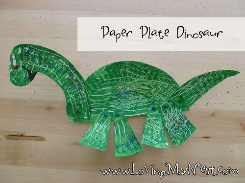 Paper Plate Dinosaur @ Loving My Nest & Paper Plate Dinosaur @ Loving My Nest | Kid Blogger Network ...