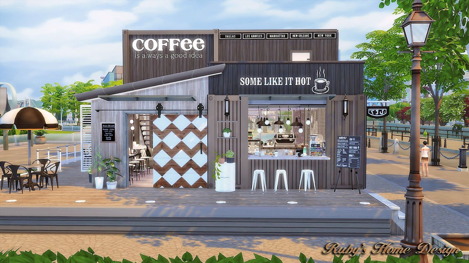 House · Sims4 Container Coffee Shop   Rubyu0027s Home Design
