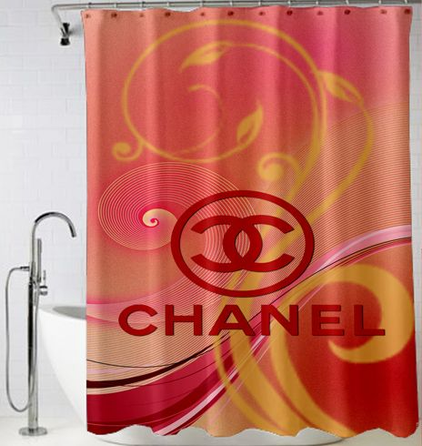 Chanel Logo Red Vector Shower Curtain
