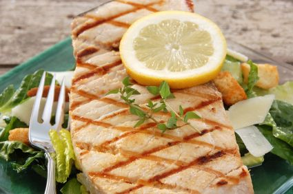 Our Grilled Swordfish Caesar Salad is a light and fresh recipe for a perfect summer day.