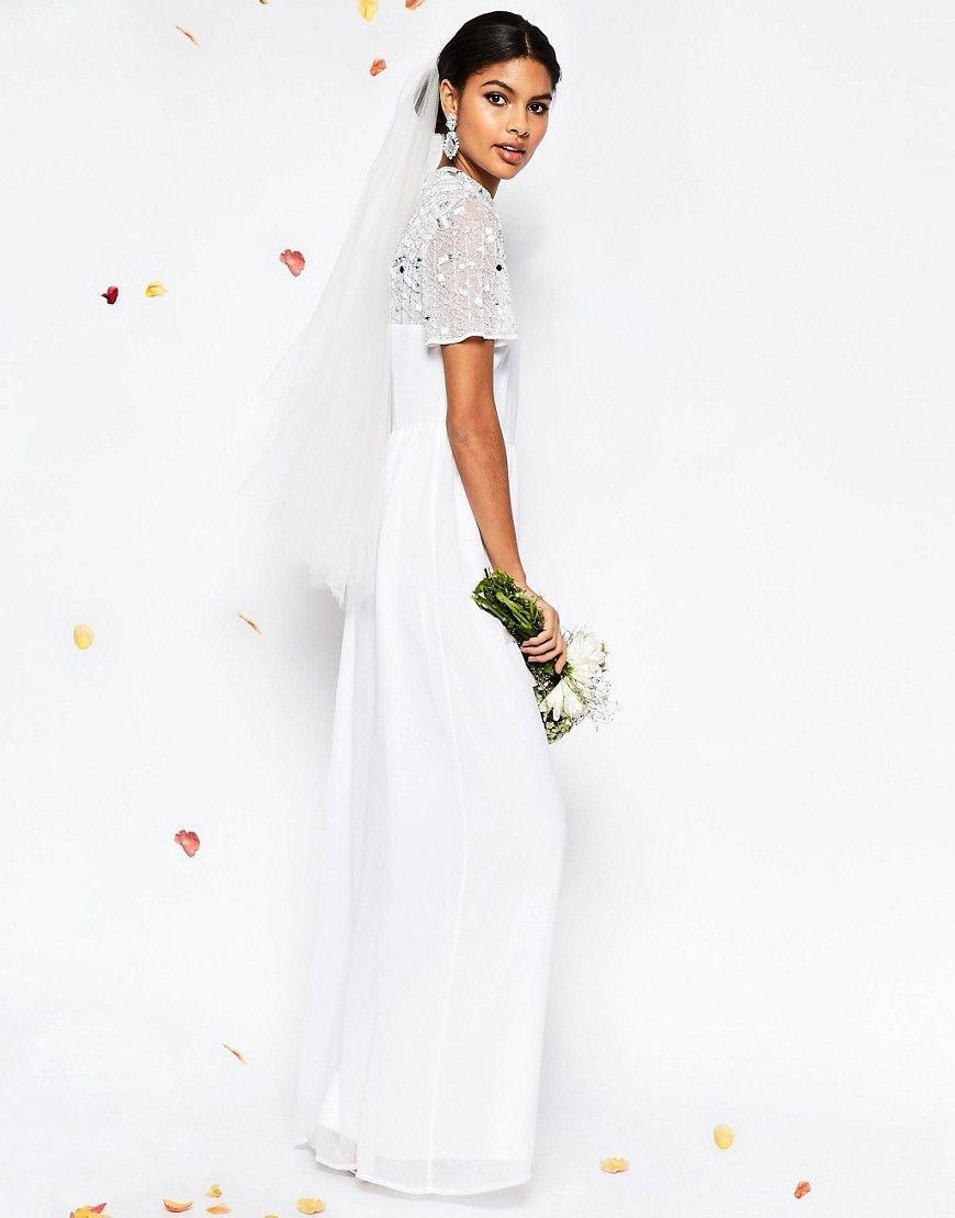 Image of asos bridal high neck embellished maxi dress suknia