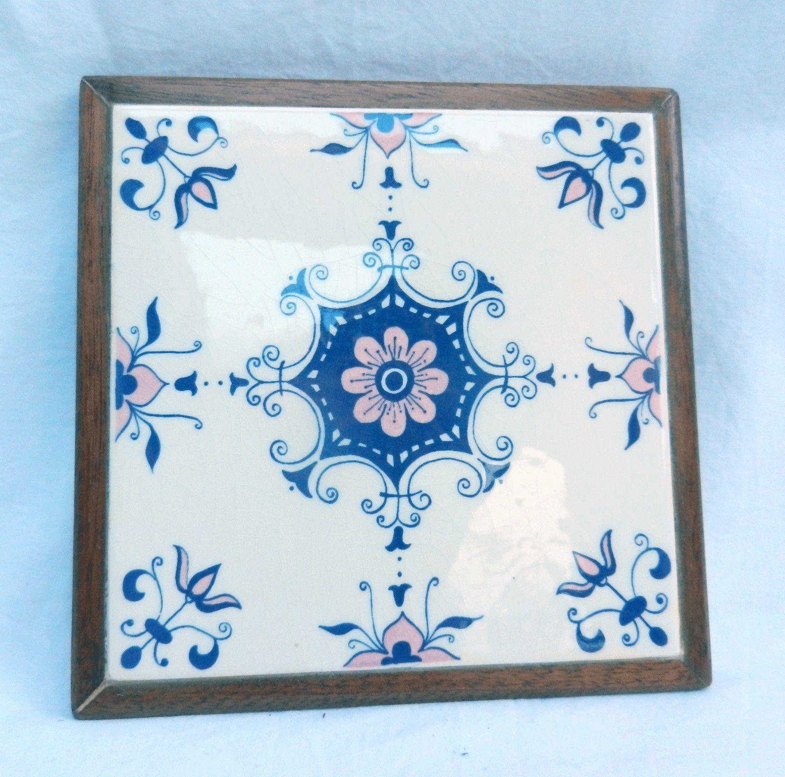 Ceramic tile trivet heat resistant pot stand with wooden frame and ceramic tile trivet heat resistant pot stand with wooden frame and cork back dailygadgetfo Choice Image