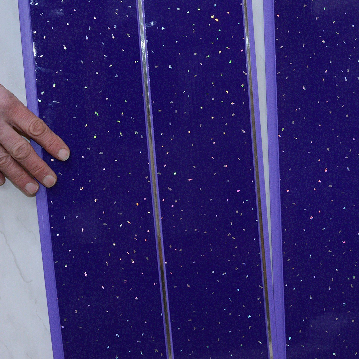 Bathroom Wall Panels Pvc For Shower Cladding Wall Panels Purple Sparkle With Silver 100 Waterproof By Clad Bathroom Wall Panels Bathroom Paneling Wall Panels