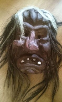 Traditional mask from the Swiss Alps