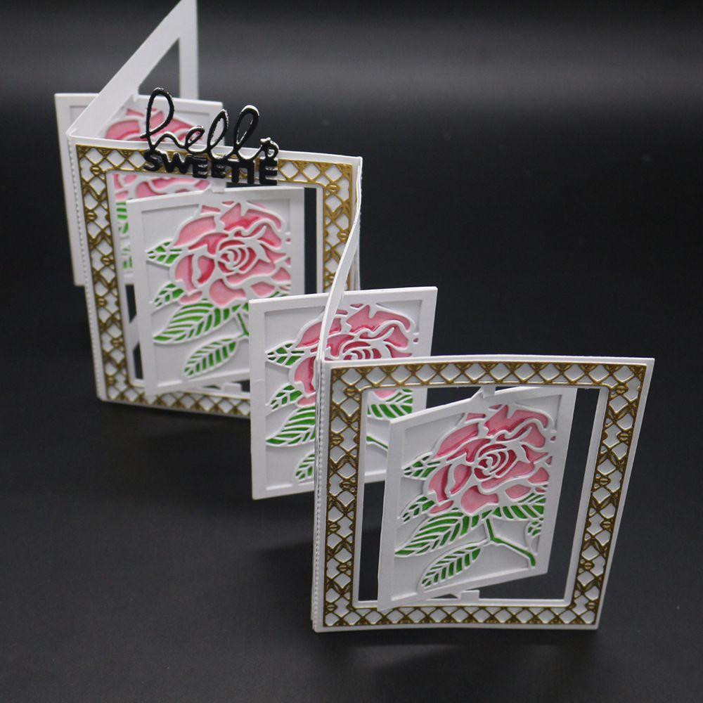 Rose Frame Cutting Dies Stencil Metal DIY Scrapbook Album Paper Card Embossing
