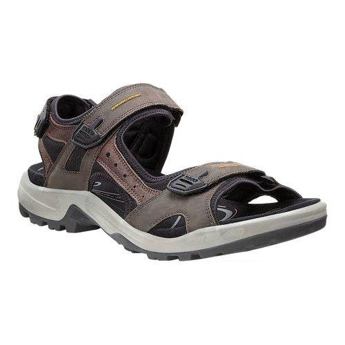 0069335d1502 Men s ECCO Yucatan Sandal - Espresso Cocoa Brown Black Nubuck Textile  Comfort Footbeds