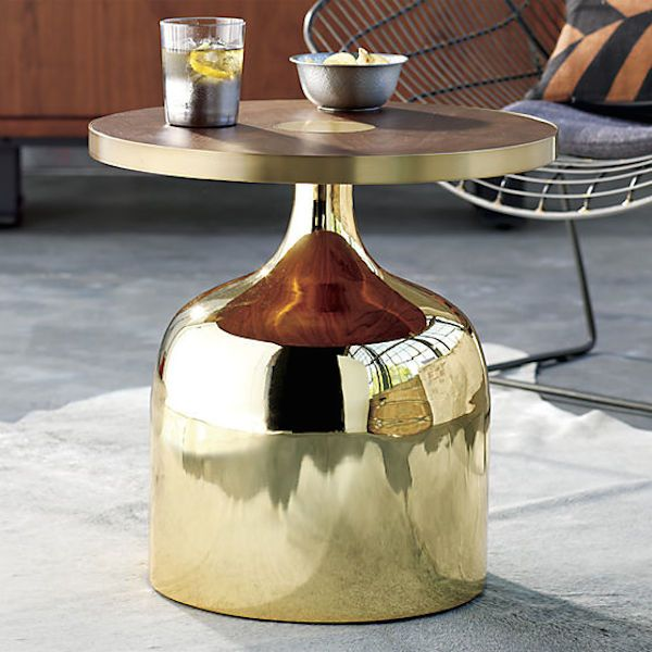 Gold base dining table