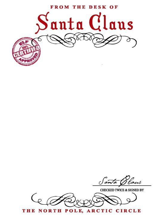 SANTA CLAUS LETTERHEAD.. Will Bring Lots Of Joy To Children.  Free Printable Letterhead Templates