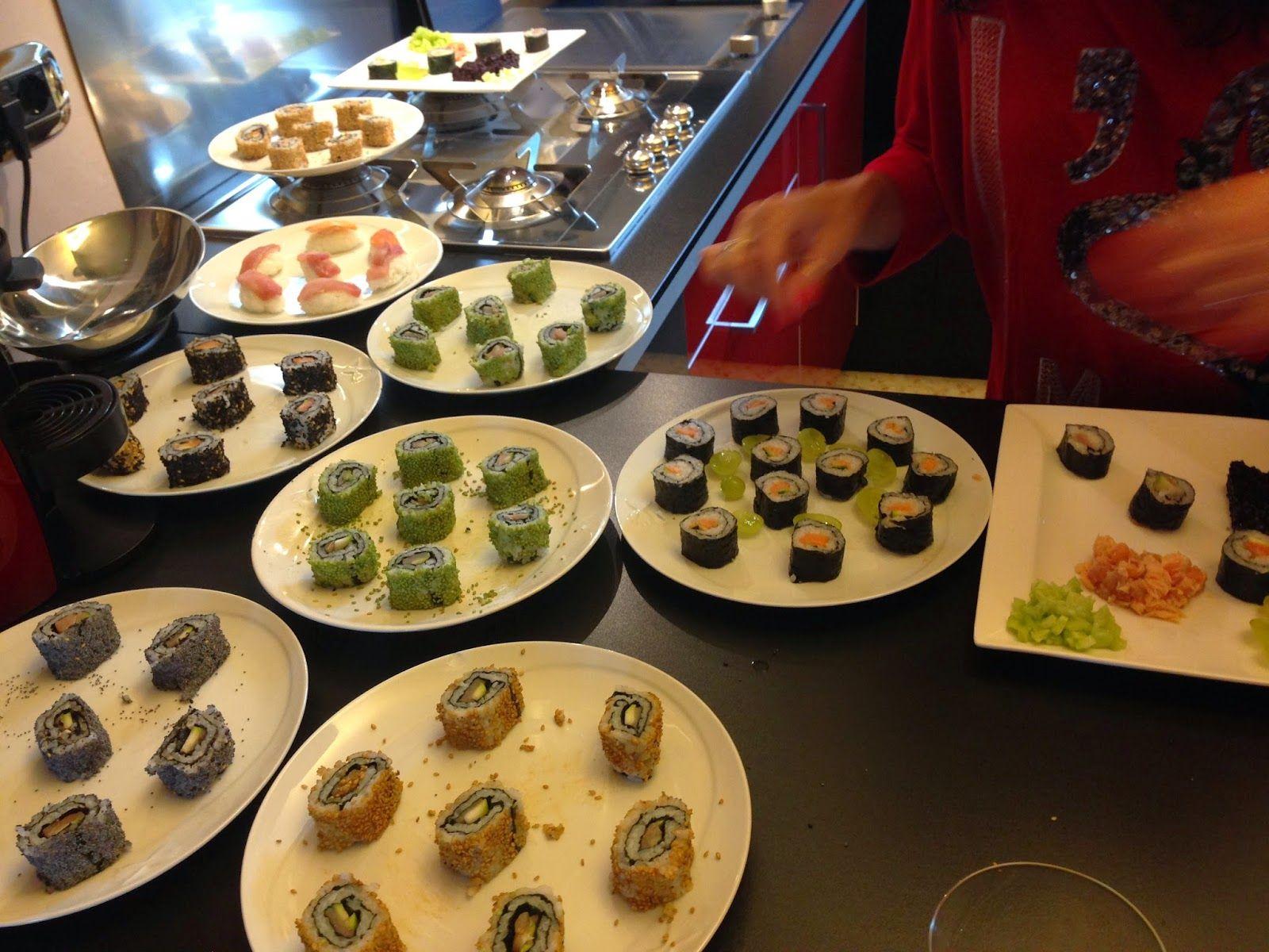 ⇒ Bimby, le nostre Ricette - Bimby, Sushi Futomaki ed Uramaki con Verdure e Pesce