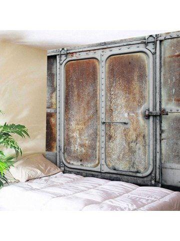 Wall Decor Hanging Rusty Metal Door Tapestry | Tapestry | Pinterest | Tapestry Wall tapestries and Cheap wall tapestries  sc 1 st  Pinterest & Wall Decor Hanging Rusty Metal Door Tapestry | Tapestry | Pinterest ...