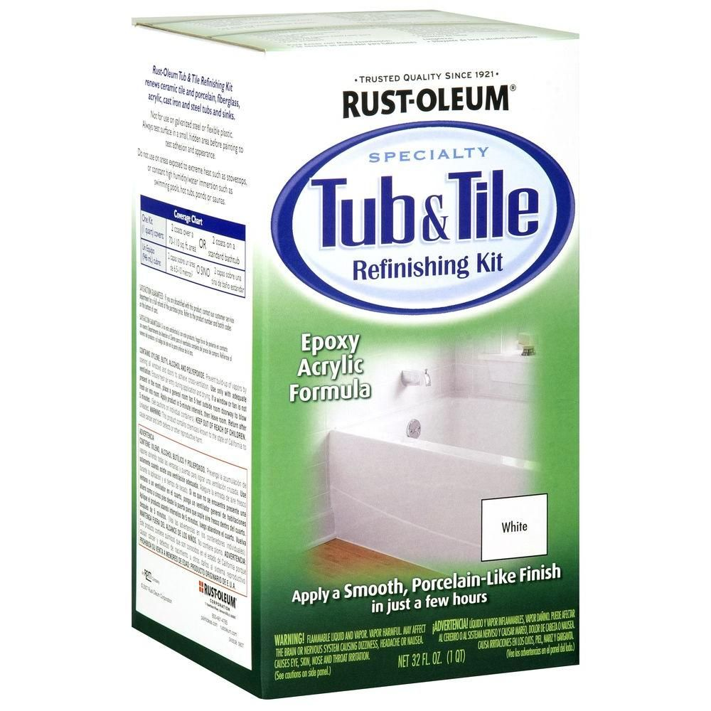 RustOleum Specialty 1 qt. White Tub and Tile Refinishing