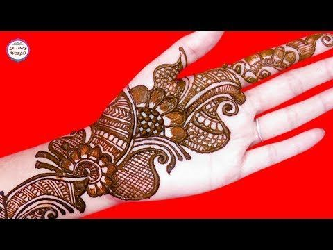 Trending arabic big flower henna mehndi designs  tattoo by jyoti sachdeva youtube also rh pinterest
