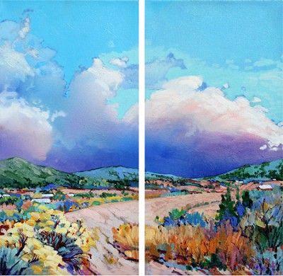 Best Ja Gorman Cedar Crest Vista Acrylic On Canvas H 20In X W 20In 640 x 480