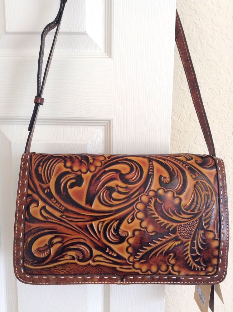 Patricia Nash Bari Square Flap Crossbody Tuscan Tooled Leather Nwt Ebay