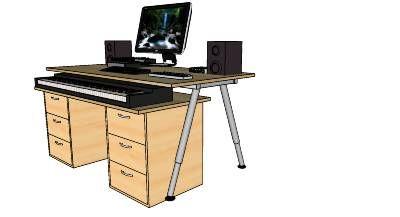 ikea based home studio desk for 88 keys digital piano piano desks in 2019 home studio desk. Black Bedroom Furniture Sets. Home Design Ideas