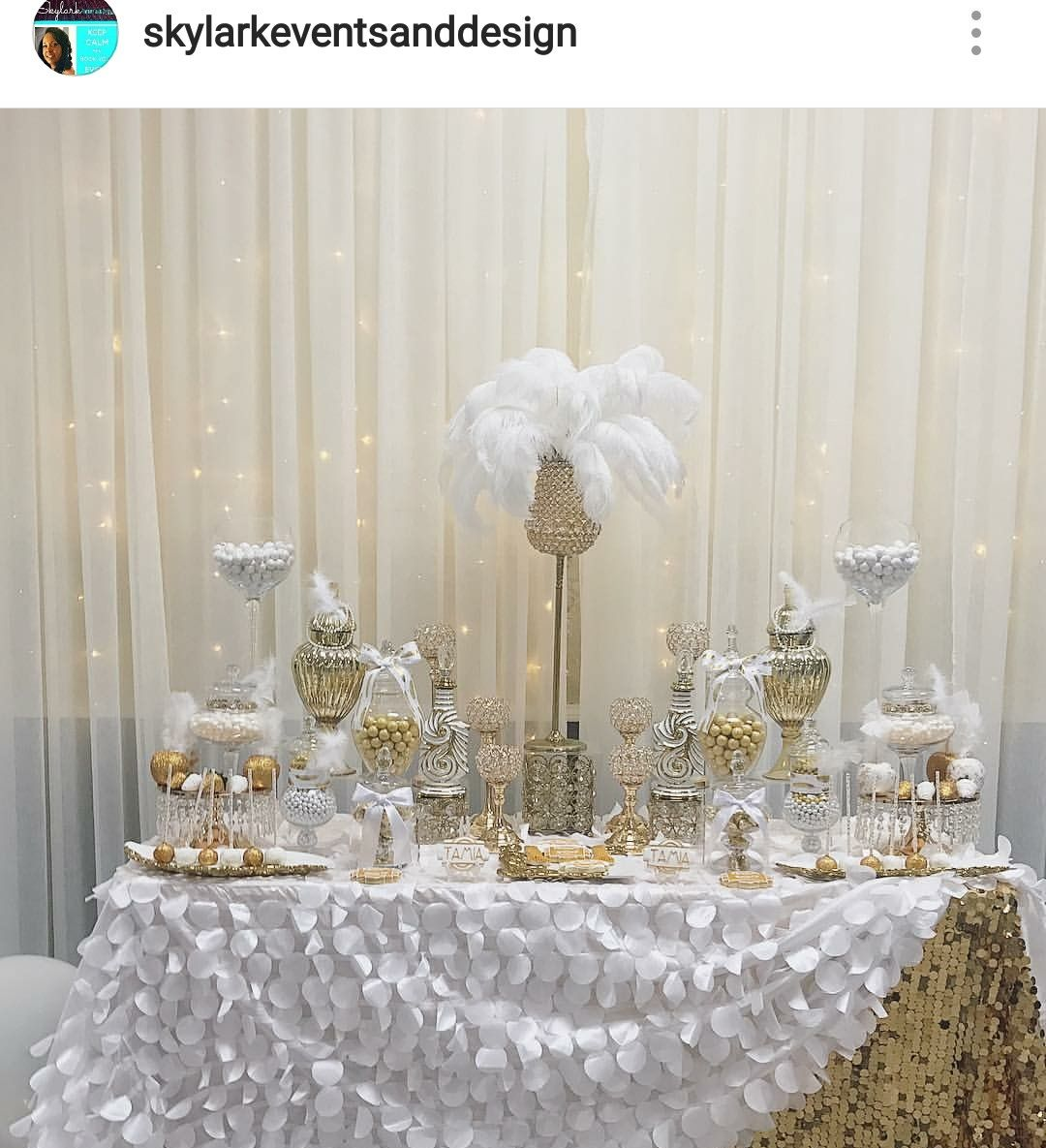 Great Gastby Inspired Prom Send Off Dessert Table And