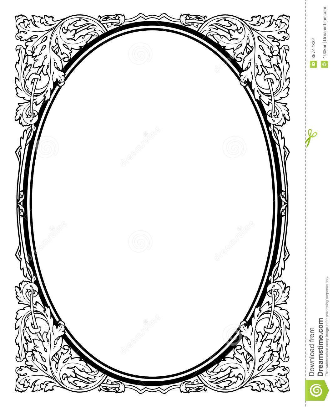 Photos cadre baroque ovale dessin arts plastiques encadrer mettre en valeur pinterest - Cadre photo dessin ...