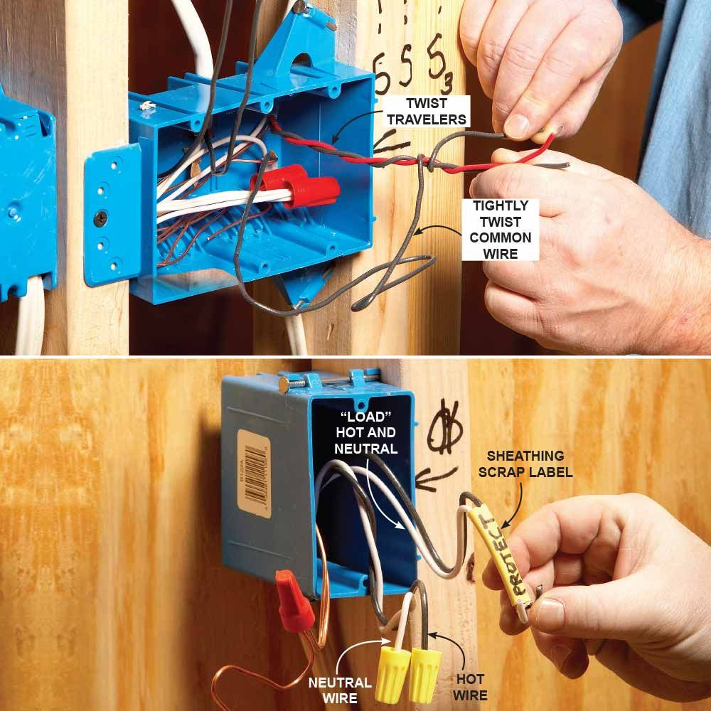 medium resolution of identify roughed in wires more home electrical