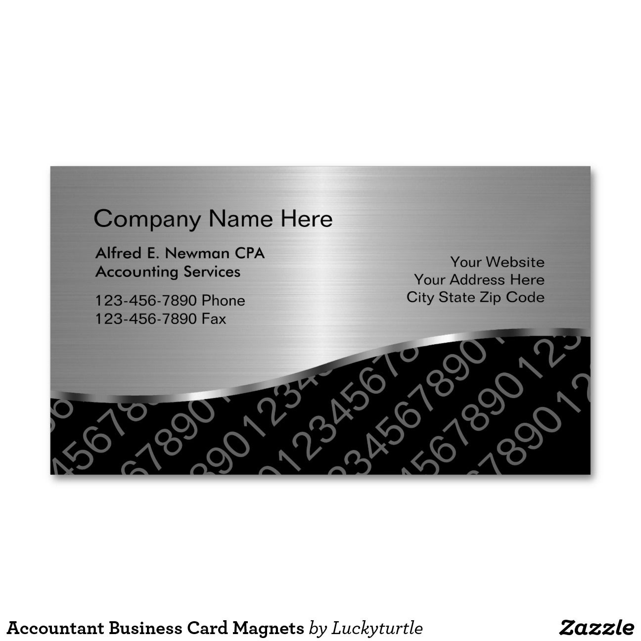 Accountant Business Card Magnets Magnetic Business Cards | Branding ...