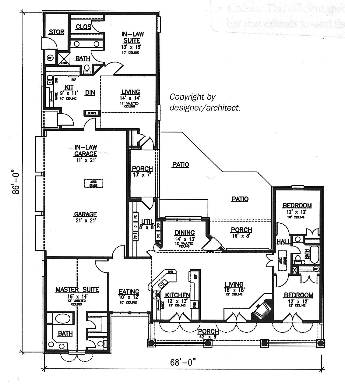 House With Mother In Law Suite Country Style House Plans House Floor Plans Country House Plans