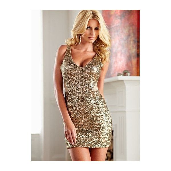 0fda038925a Cut out sequin dress from VENUS ( 52) ❤ liked on Polyvore