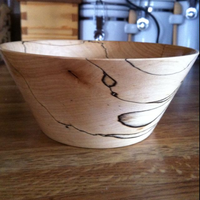 This is a bowl my husband turned.