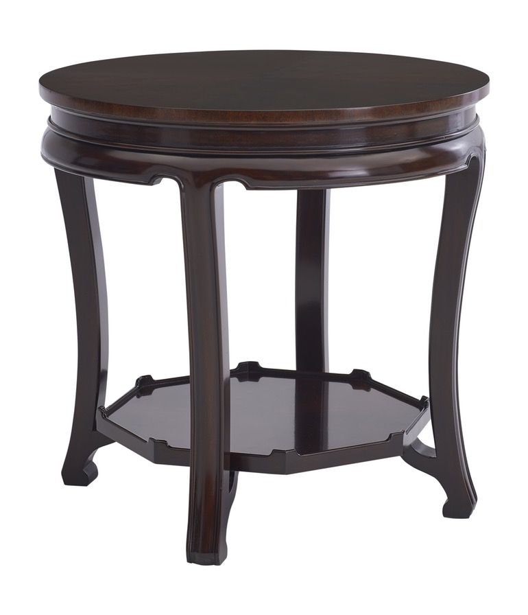 Beekman Qing End Table Chinoiserie, Wood, Side End Table By Ralph Lauren  Home