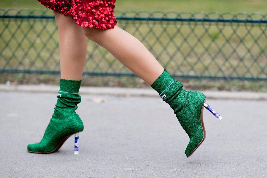 Botki Ze Skarpeta Fashion Week Street Style Fashion Boots Fashion