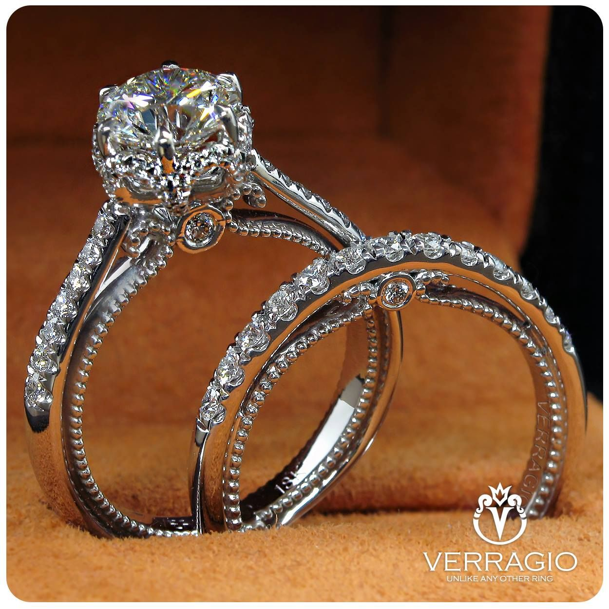 Verragio Verragio Couture 0429rd 14k White Gold Diamond Engagement Ring By Verragio Wedding Rings Vintage Ruby Wedding Rings Diamond Wedding Bands