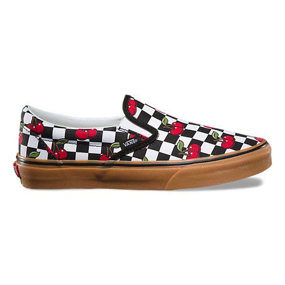 Vans Old Skool Cherry Black & Gum Karierte Skate Schuhe