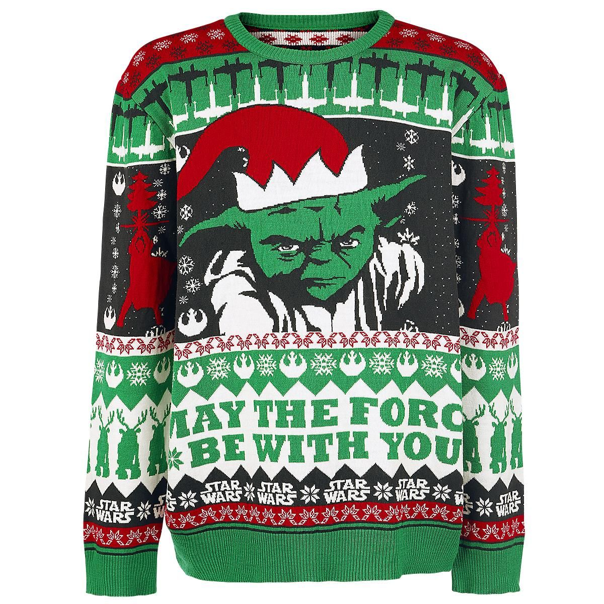 star wars strickpullover yoda may the force be with you. Black Bedroom Furniture Sets. Home Design Ideas