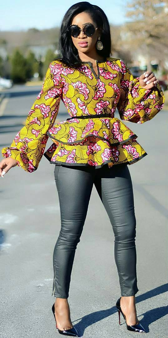 e0c9a3452 African print top fashion