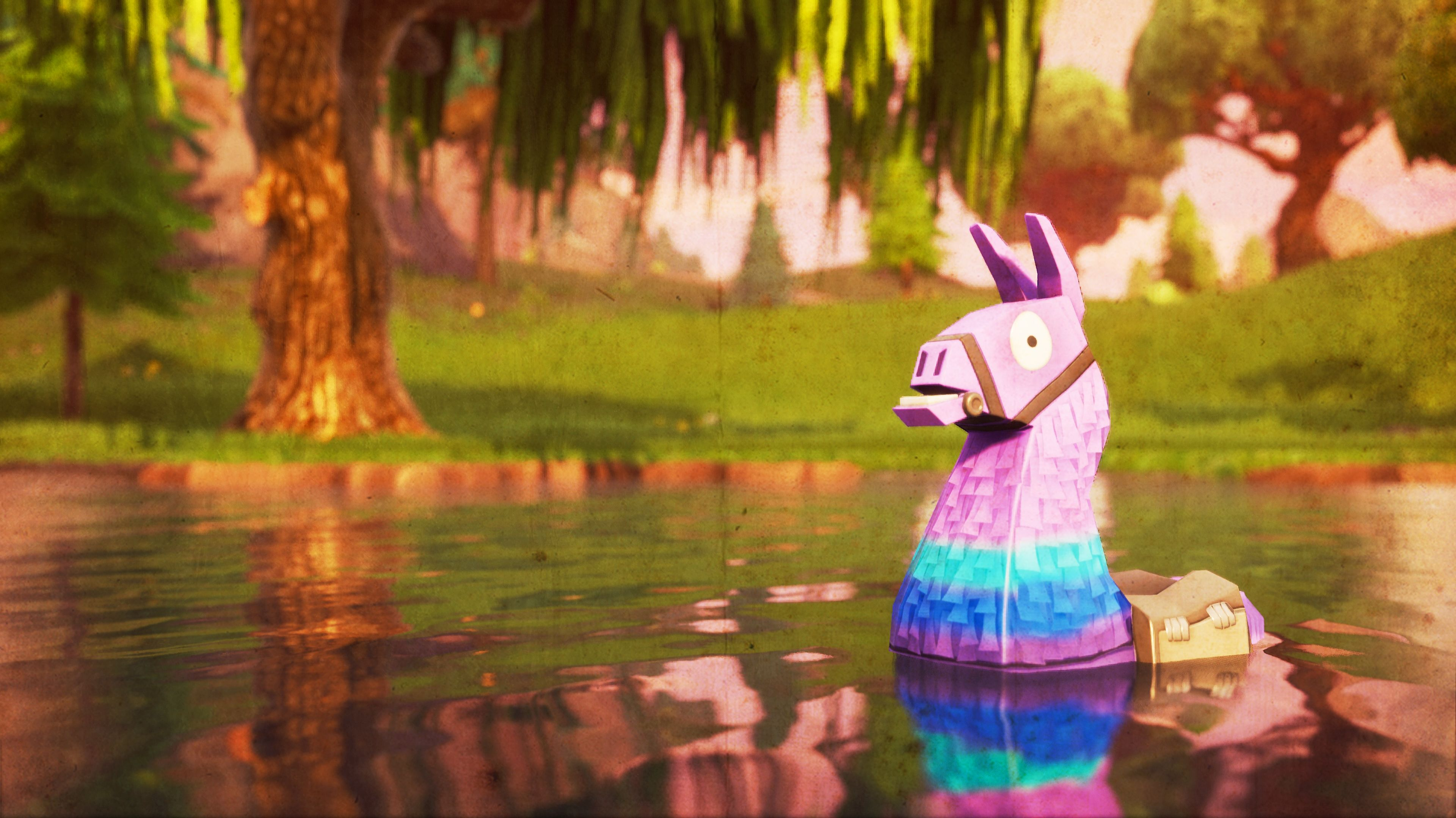llama, Fortnite Battle Royale, Video Game, 3840x2160